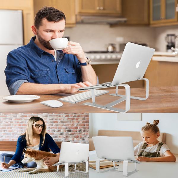 铝合金可拆卸笔记本电脑桌支架镂空