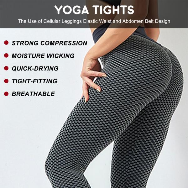 tiktok抖音女士紧身裤提臀运动裤高腰瑜伽裤深灰色S码