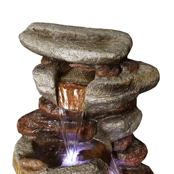 29.9英寸带LED灯的岩石喷泉(亚马逊禁售)