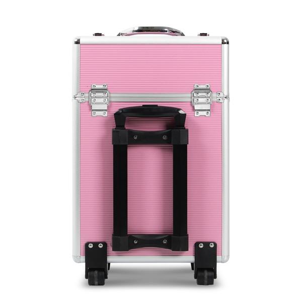 带抽屉化妆箱 铝制边框 粉色