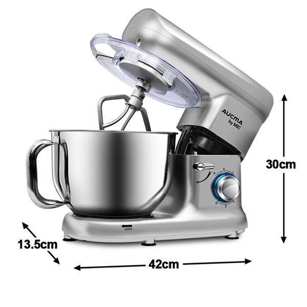 1500W 电动立式搅拌机 5.5L不锈钢碗 银色