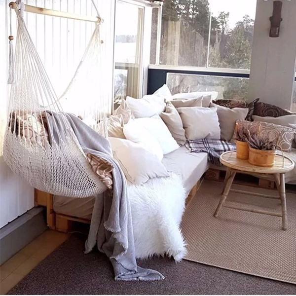 悬挂式网状吊椅-白色