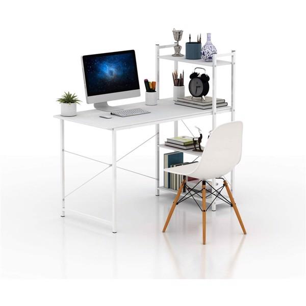 47英寸现代书桌带双面书架电脑桌办公桌(亚马逊禁售)
