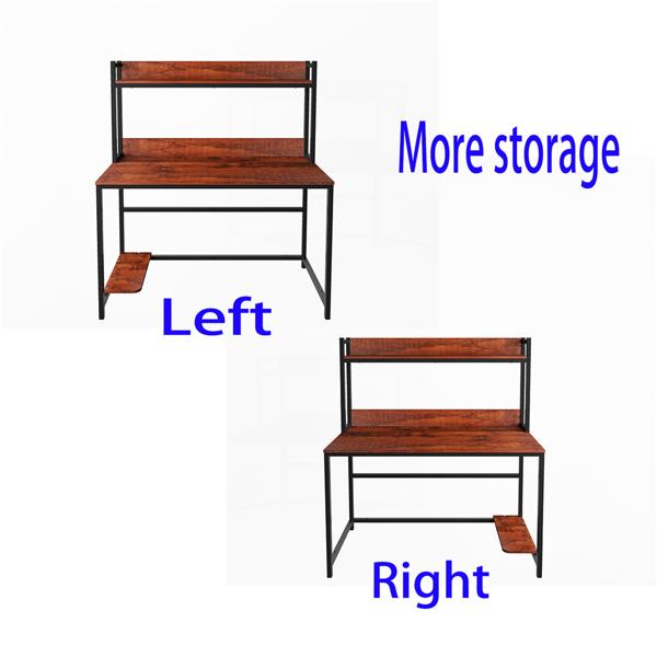 47英寸家庭办公电脑桌带储物架(亚马逊禁售)