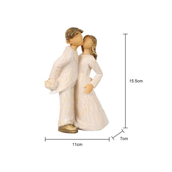 接吻情侣雕像雕塑手工雕刻小雕像,适合家庭办公室装饰