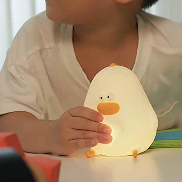 【沃尔玛禁售】小肥鸡夜灯 Chick Night Light Benson Duck Light's Friend Chicken Night Light for Kids, Cute Silicone Nursery Night Light Rechargeable Table Lamp Bedside Lamp with Touch Sensor for Women Bedrooms