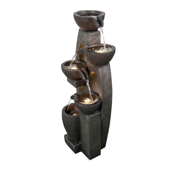 39英寸现代树脂落地喷泉带暖色LED灯(亚马逊禁售)