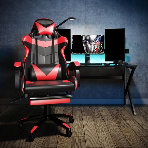 竞技椅(黑+红)