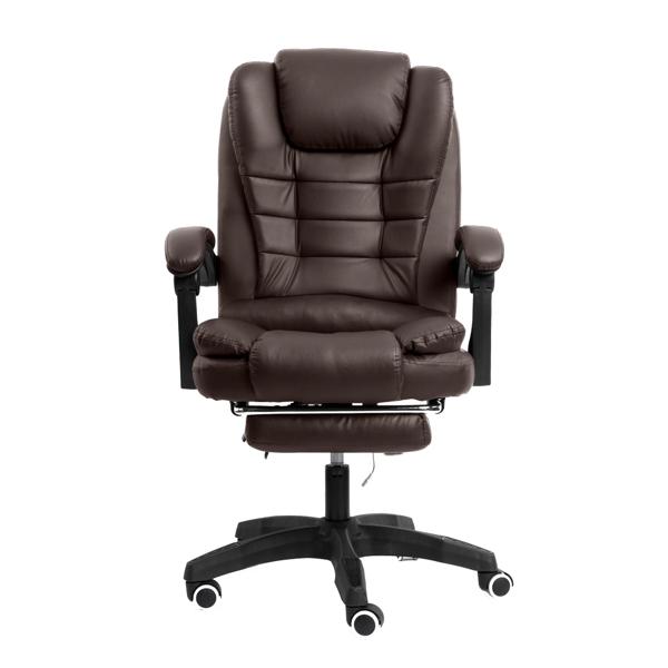 办公椅带按摩棕色