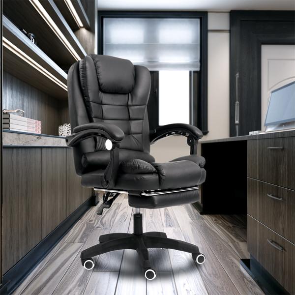 办公椅带按摩黑色
