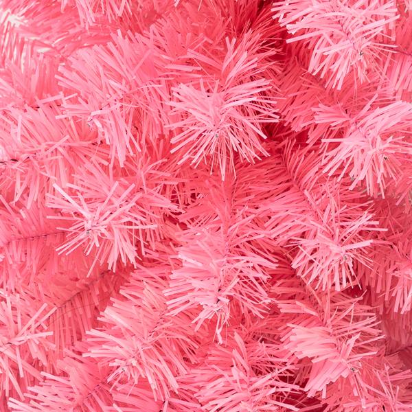 FCH 6ft 1600枝头 粉色 圣诞树 PVC树枝铁支架 N101 英国