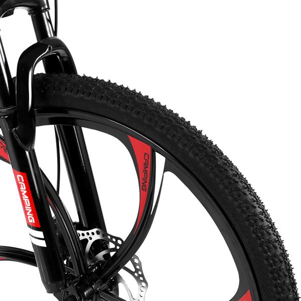 CamPingSurvivals 26in 黑色 山地自行车 六刀轮可折叠 高碳钢 100kg MBS003LH N001 21速 成人