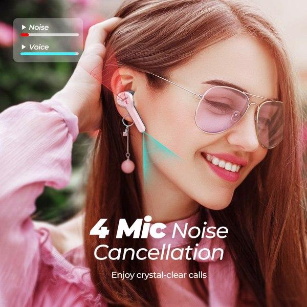 【亚马逊禁售】M9 真无线耳塞带 200 小时待机和低音、IPX7 防水蓝牙 5.0 耳机带充电盒、无线耳机带 30 小时播放时间、入耳式迷你耳机带麦克风