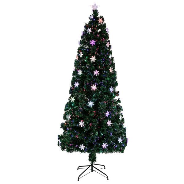 FCH 6ft 光纤 230枝头 嫩绿 圣诞树 PVC树枝铁支架 N101 法国