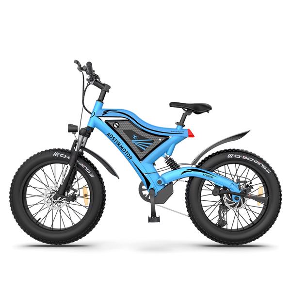 "AOSTIRMOTOR 20"" 电动自行车500W电机48V15Ah可拆卸锂电池零售限价$1499 S18-MINI-Blue"