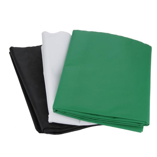 Kshioe PK038 带1.6*3m绿黑白三块无纺布和2*2m背景支架加5个鱼嘴夹 铁质 黑色 摄影支架