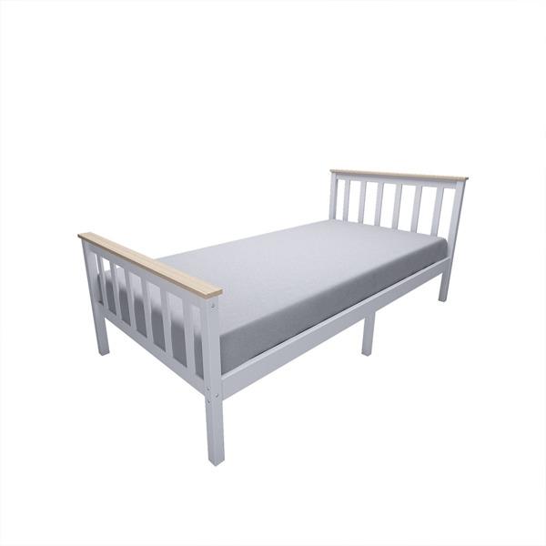 单人床白色带清漆条子