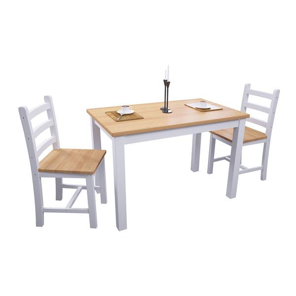 松木桌椅套装一桌4椅橡木色面