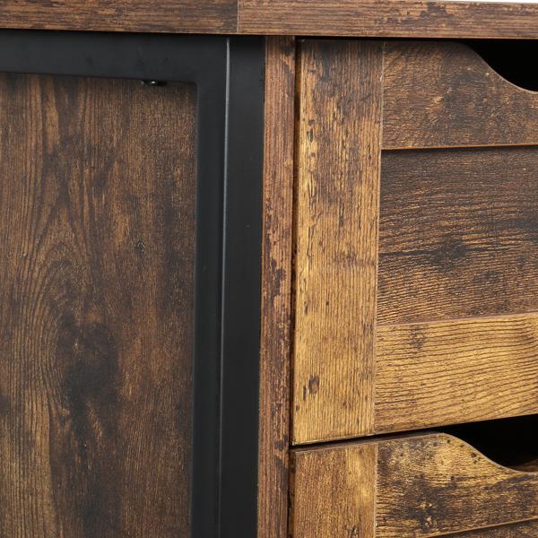 FCH 火烧云 密度板贴三胺 四抽 一门 钢木结构 浴室立柜 N001