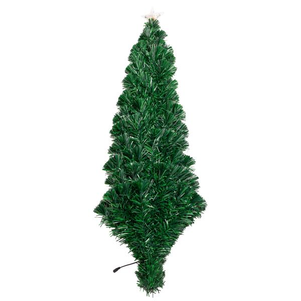 FCH 7.5ft 光纤 260LED灯 260枝头 嫩绿 圣诞树 PVC树枝铁支架 N101 法国