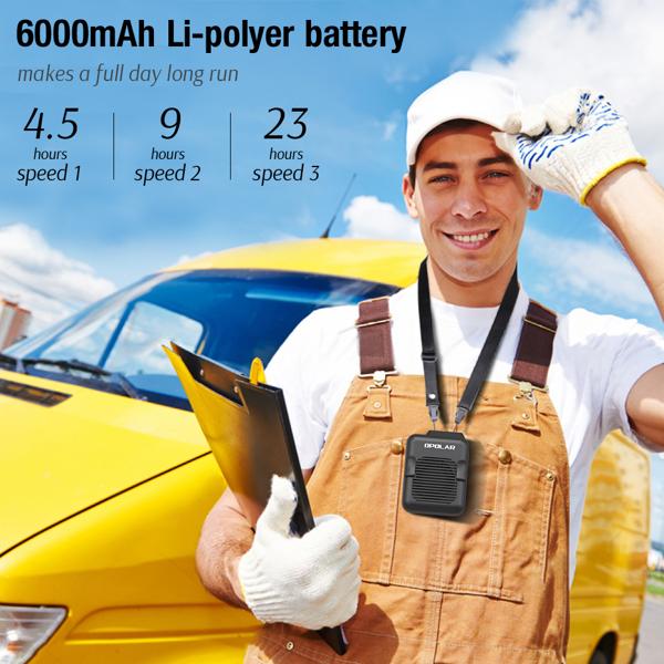 小风扇6000mAh聚合物可拆卸挂腰风扇(亚马逊禁售)
