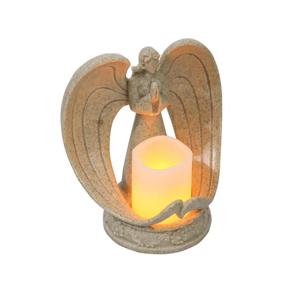 北欧风树脂天使电子烛台客厅教堂装饰品