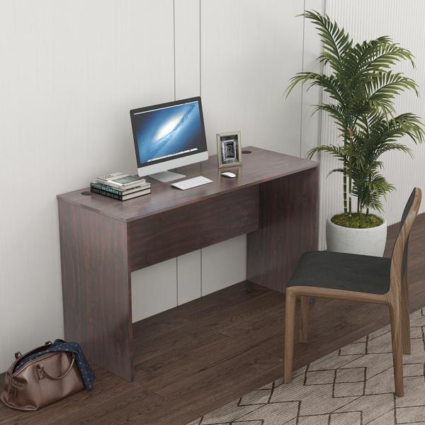 经典电脑桌现代设计坚果棕色