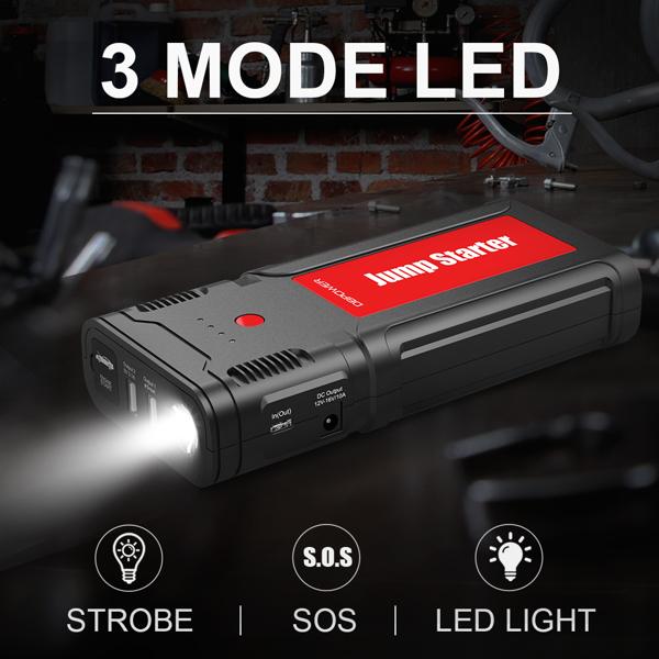 DBPOWER G15 2500A  21800mAh 应急启动电源 黑红(该产品在亚马逊平台存在侵权风险)