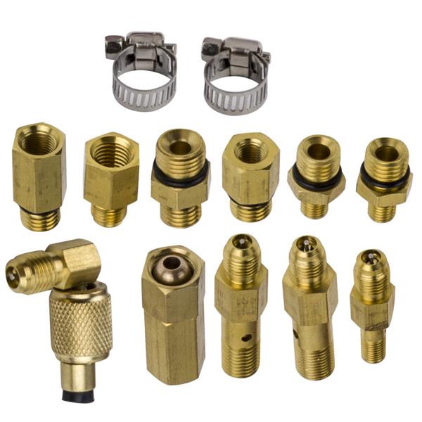 燃油喷射表压力测试仪Universal Fuel Injection Gauge Pressure Tester Test Kit Car System 140PSI Fuel Injection Pump Tool Set