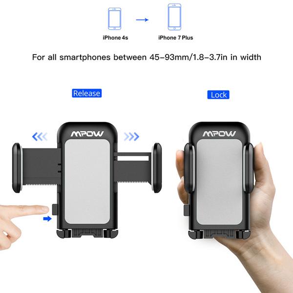 【亚马逊禁售】051 带CD槽的车载电话支架,带三边把手和一触式设计的车载支架