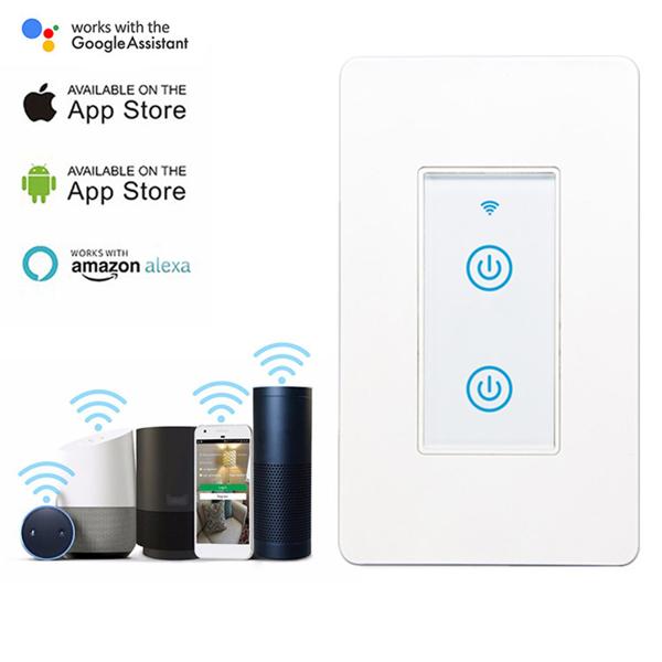 DS-123-1s智能wifi开关-美规2键触屏键