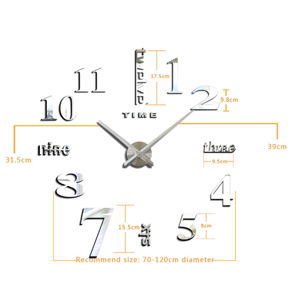 DIY002挂钟-银色
