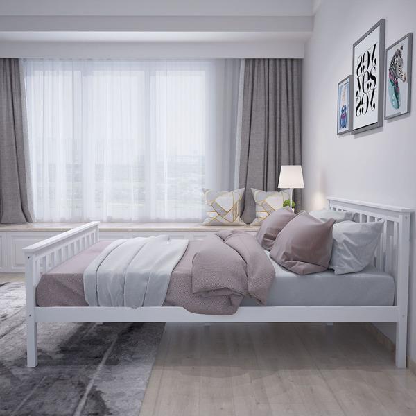 双人床白色