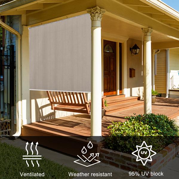 180*180*6cm 卡其色 庭院遮光帘 钢铁 长方形 庭院 RS0BE6