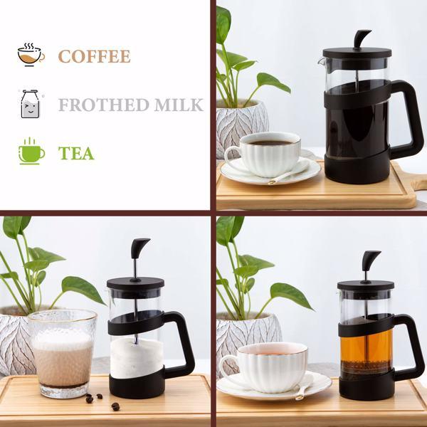 法压壶咖啡壶34 盎司便携式冷热压咖啡茶壶旅行野营