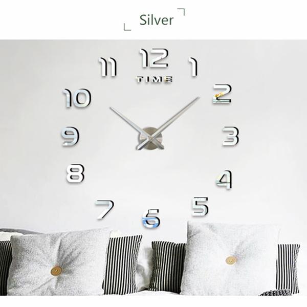DIY数字挂钟-银色