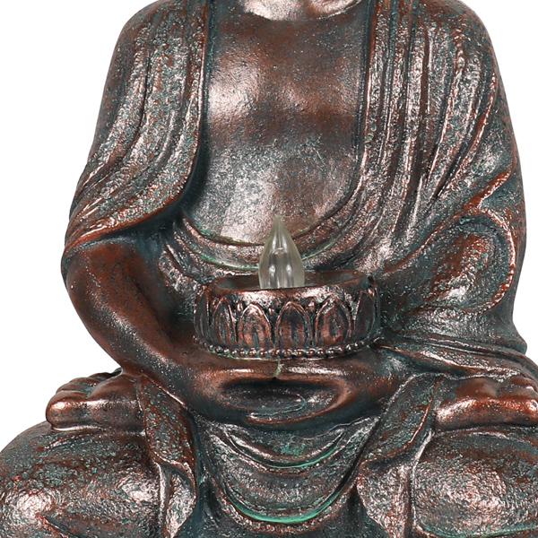 冥想坐佛太阳能灯户外花园露台雕像灯装饰