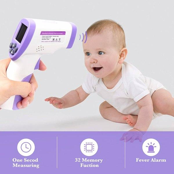 额温枪2合1成人和儿童数字额头耳朵温度计即时准确读数