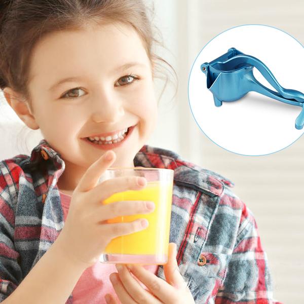 手动柑橘榨汁机柠檬榨汁机便携式水果榨汁机蓝色