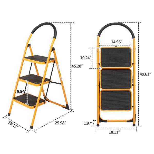 FCH 铁质 3踏步圆弧 踏步梯 德国 黄色