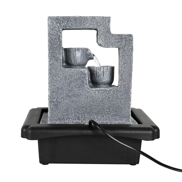 10.6英寸带LED灯的室内桌面喷泉(亚马逊禁售)