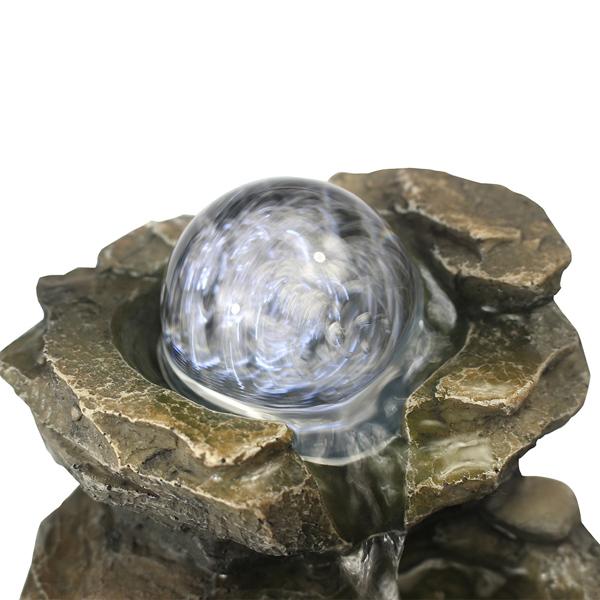 8.3英寸岩石级联桌面喷泉带 LED 灯,适合家庭办公室卧室放松(亚马逊禁售)
