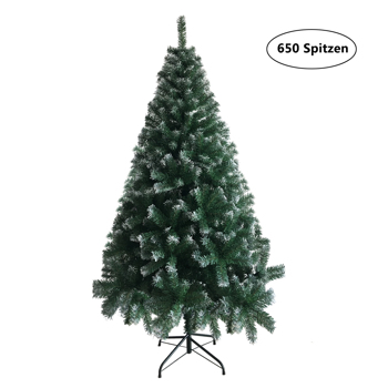 FCH 6ft 650枝头 粘白 圣诞树 PVC树枝铁支架 N101 英国 法国 德国
