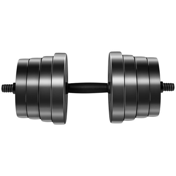 30kg黑色哑铃