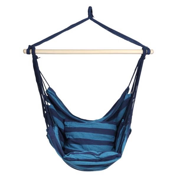 庭院悬挂抱枕吊椅-蓝条纹