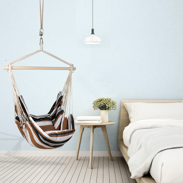 庭院悬挂抱枕吊椅-咖啡色