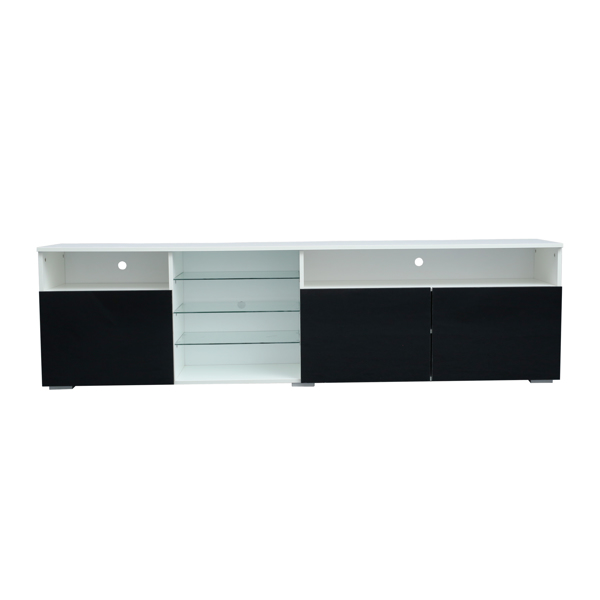 电视柜高光门现代电视柜 LED(白/黑)