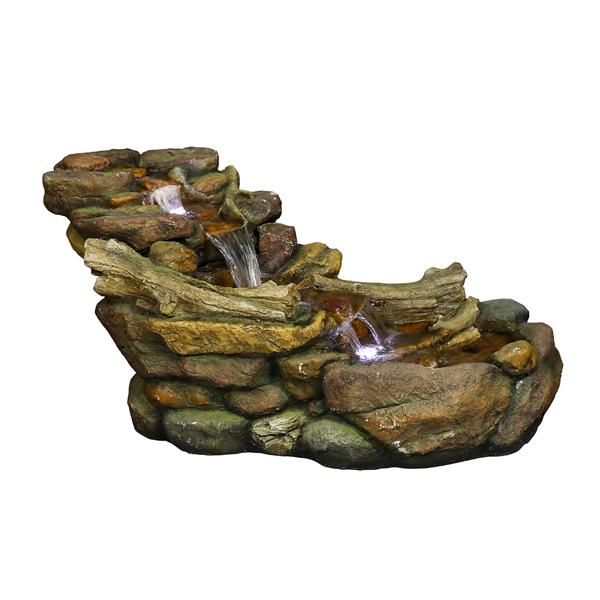 19英寸级联户外岩溪喷泉带 LED 灯(亚马逊禁售)
