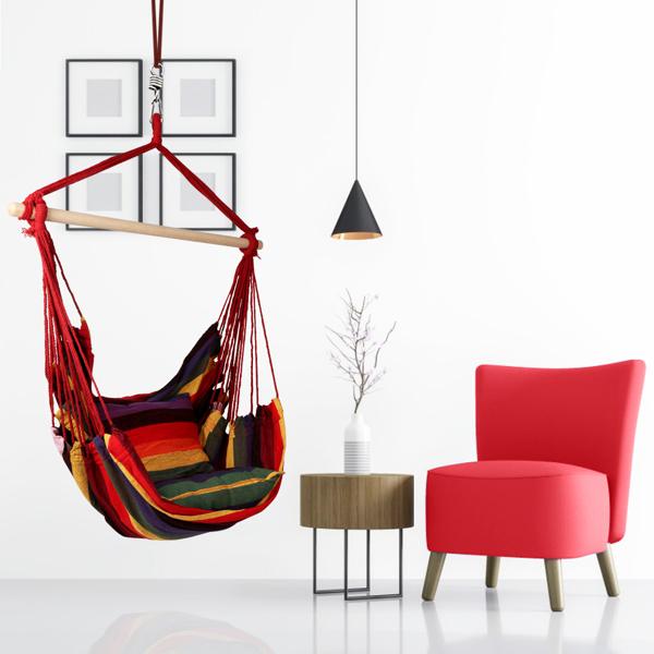 庭院悬挂抱枕吊椅-
