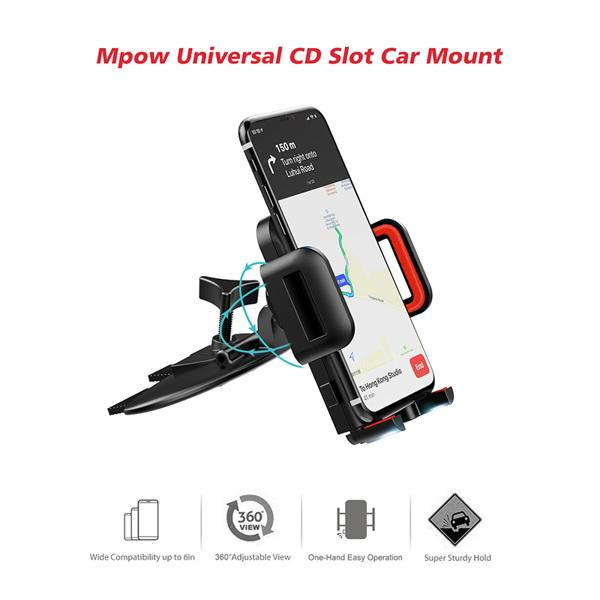 【亚马逊禁售】通用 CD 插槽车载支架,适用于 iPhone、三星 Galaxy 和其他手机